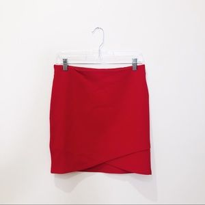 Sunday Best Red Mini Skirt